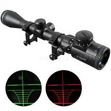 3-9X 40mm Red /Green mil-dot Sight illuminated Optics Hunting Sniper Scope SWTG