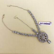 Silver headpiece matha patti tikka hijab boho grecian bridal hair chain prom