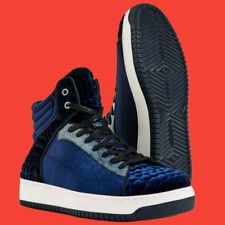 ZARA Blue Velvet Lace-Up High Top Sneakers Trainers Shoes Man Authentic 5507/102