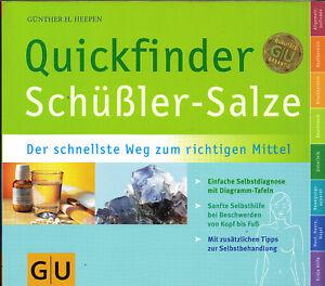 Quickfinder Schüßler-Salze, Auflage 2018/19 Heepen, GU, wie neu, UNGELESEN