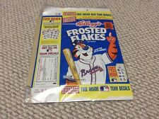 "USED MLB ATLANTA BRAVES LIMITED EDITION PACKAGE KELLOGG'S ""FROSTED FLAKES"" BOX"