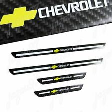 X4 For Carbon Fiber Car Door Welcome Plate Sill Scuff Cover Panel Sticker CHEVY