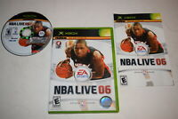 NBA Live 06 Microsoft Xbox Video Game Complete