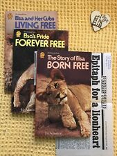 Vintage Joy Adamson Born Free Trilogy With Epitaph Newspaper Clippings