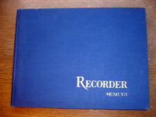 Vtg 1962 High School Yearbook Saratoga Springs, NY 'Recorder' Blue Streaks Exc.