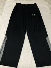 Great Under Armour Black exercise basketball work out pants Yxl