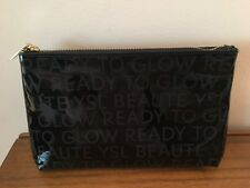 3a39a6c60b03 Yves Saint Laurent YSl Beaute Beauty patent black READY TO GLOW Cosmetic Bag