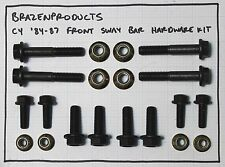 COMPLETE C4 Corvette FRONT Suspension Hardware Kit - New Nuts, Bolts, Washers
