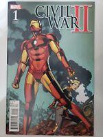 CIVIL WAR II #1 (2016) IRON MAN! CAPTAIN MARVEL! CHRIS SPROUSE VARIANT COVER! NM