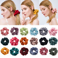 Women Satin Hair Scrunchies Elastic Hair Rubber Bands Hair Rope Ponytail Holder