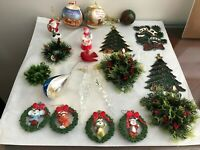 20 Vintage Christmas Tree Ornaments Lot All In Great Condition