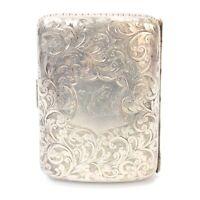Silver cigarette case antique .925 sterling Birmingham 1896 87gms H C Freeman