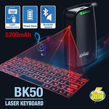 ENRG BK50 Laser Projection Keyboard 5200mAh Power Bank Bluetooth Speaker Black