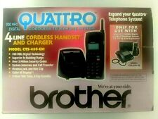 New Listingbrother Quattro Digital Cordless Phonehand Set And Charger 900 Mhz New In Box