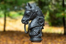Cast Iron Horse Head Pole Toppers (pair)