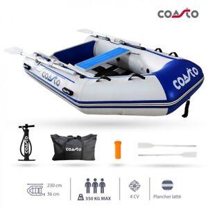 COASTO Schlauchboot mit Carbon Lattenboden Beiboot Motorboot Ruderboot