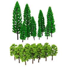 30x Miniature Plastic Tree Models 4.8-16cm 1/50-1/150 HO Roadway Scenery Toy