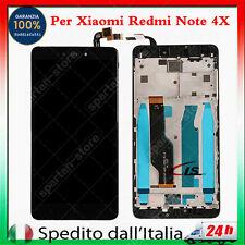 LCD PER XIAOMI REDMI NOTE 4X DISPLAY SCHERMO TOUCH SCREEN VETRO CON FRAME NERO