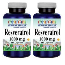 Resveratrol 1000mg 2X180caps (Polygonum Cuspidatum) - by Vitamins Because