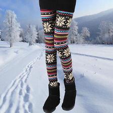 Copos De Nieve Azteca Tribal suave sólido Leggings patrón para mujer de invierno Pantalones