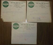 Antique 1898 Letterhead Letters New York & Michigan Farm Products - Detroit