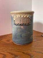 Hunter Stoneware Pottery Wine Crock Cooler Blue  Speckled Handmade Vintage