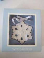 Wedgwood Snowflake Ornament White Nib