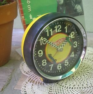 Vintage HOT WHEELS mattel collectible clock wind up working 1970 made in japan