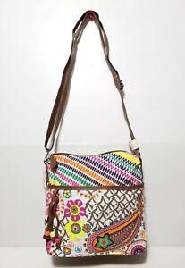 New Claire's Womens Handbag Floral Summer Shoulder Style Cotton