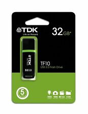 PENDRIVE TDK TF10 USB 2.0 FLASH DRIVE - 32GB - USB 2.0 - NEGRO
