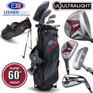 US Kids 5-Club Stand Bag Junior Boys Golf Club Set 60'' Age 11 - NEW! 2020