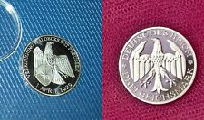 NEW Waldecks 3 RM 1929 Silver Plated Weimar Republic Commemorative Coin