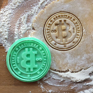 Bitcoin cookie cutter. BTC cookies.
