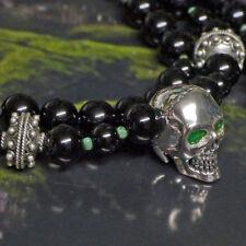 Halsketten und Anhänger mit Smaragd runde Echtschmuck