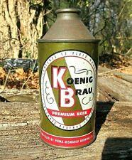 Koenig Brau Topping Cone Top Vintage Beer Can