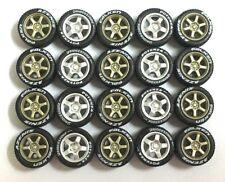1/64 TE37 Bronze T5 Silver rims fit Hot Wheels GTR Civic diecast - 5 sets -R355