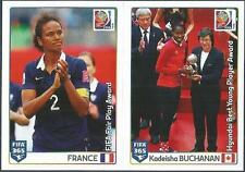 PANINI-2016 FIFA 365- #066-067-WORLD CUP-FRANCE-SWITZERLAND-KADEISHA BUCHANAN