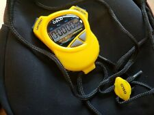 Robic Oslo-1000W Dual Stop Watch, Yellow