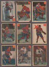 1954-55 Parkhurst Original Hockey Cards Lot of 45