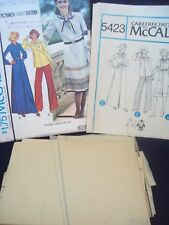 1970s Yoked Dress or Top with Scarf Vintage McCalls Pattern 5423 Size 12