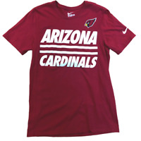Arizona Cardinals Nike, Athletic Cut, Short Sleeve Shirt, Men's Size Medium, Red