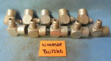 """AEROQUIP 2025-6-6 HYDRAULIC ELBOW ADAPTER 3/8"""" TUBE MALE JIC X FNPT, LOT OF 10"""