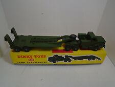 DINKY TOYS #660 ANTAR TANK TRANSPORTER NEW OLD STOCK IN ORIGINAL BOX NEAR MINT+