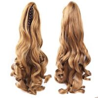 100% Real Human Hair Body Wave Claw Clip High Ponytail  Human Hair Extensions