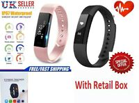 Bluetooth Smart Watch Fitness tracker Heart Rate Blood Pressure Sports Bracelet