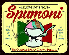 (VMA-L-6658) Spumoni Italian Crowd Pleaser Vintage Metal Ice Cream Tin Sign