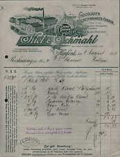 HERFORD, Rechnung 1915, Schokoladen- & Zuckerwaren-Fabrik Kiel & Schmahl