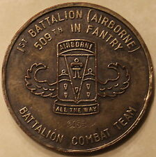 509th Geronimo Infantry Airborne 1st BN G-Man Serial #0156 Army Challenge Coin