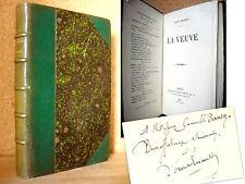 """""""La VEUVE"""" Louis ENAULT Reliure EO1877 envoi signé au Peintre Camille BERNIER !"""
