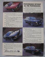 BMW Alpina C2 & B10 Original advert No.1